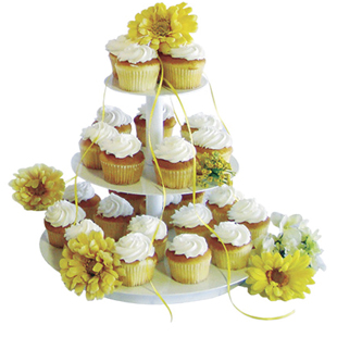 Mini Banded Cupcake Tree, Round Silver | Caterers Warehouse