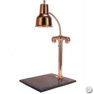 Copperplated single heat lamp carving station buy