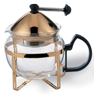 Glass Teapots - Gold | Caterers Warehouse