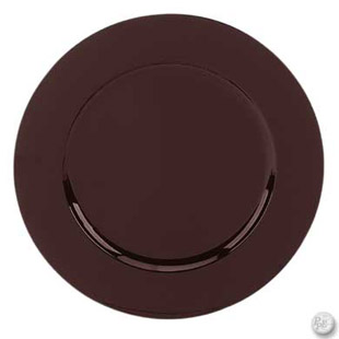 BROWN CHARGER PLATE 13 ROUND ACRYLIC Buy BROWN CHARGER PLATE 13 Qu