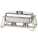 STACKABLE CHAFER FRAME ONLY, GUN METAL