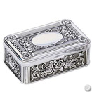 ROSE JEWELRY BOX, SMALL, ANTIQUE SILVERPLATE