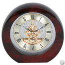 ROUND SKELETON CLOCK, WOOD, 7 1/2