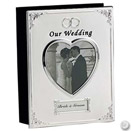 SILVERPLATED WEDDING ALBUM, 6.75