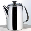 12 OZ. COFFEE POT W/ HINGED LID, 18/8 STAINLESS STEEL