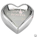 LITTLE PRINCESS SILVERPLATED HEART BOX