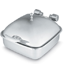 6 QT. SQUARE CHAFER, SOLID COVER, PORCELAIN FOOD PAN