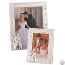 WEDDING FRAME W/ SILVER BRIDE/GROOM ON BOTTOM CORNER, 4