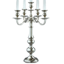 5 LIGHT CANDELABRA, NICKELPLATE