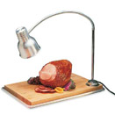 SINGLE MOUNTED FLEXIGLOW SILVER HEAT LAMP CARVING STATION