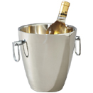 VICTORIAN DOUBLE WALL WINE COOLER AND ICE BUCKET WITH TONGS