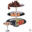 3 TIER SILVERPLATE LARGE DESSERT STAND