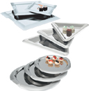 SERVING TRAYS, 18/8 STAINLESS