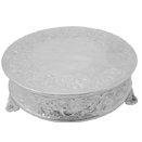 ROUND FLORAL DESIGN CAKESTANDS, NICKELPLATED - 14