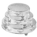 CAKE STANDS, ROUND, FLORAL DESIGN, SILVERPLATE