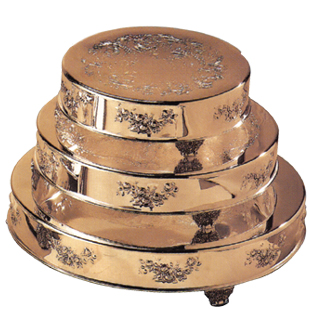 FLORAL DESIGN CAKESTANDS, GOLDPLATE