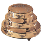 CAKE STANDS, ROUND, FLORAL DESIGN, GOLDPLATE - 14