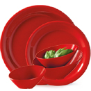 RED SENSATION MELAMINE DINNERWARE