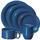 TEXAS BLUE MELAMINE DINNERWARE