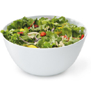 SERVING BOWL, 5 QT., ROUND, WHITE MELAMINE, PKG 12