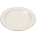 CHARLESTON IVORY GOLD CHINA - CHARLESTON IVORY GOLD RIM SALAD/DESSERT PLATE 8.25