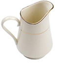 CHARLESTON IVORY GOLD CHINA - CHARLESTON IVORY GOLD RIM CREAMER- 9 OZ., CASE/3 DOZ.