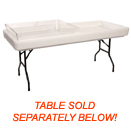 FULL SIZE FILL N' CHILL TABLES - WHITE FULL SIZE DEPTH EXTENSION ONLY