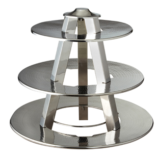 Hammered Three Tier Display Stand