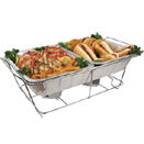 DISPOSABLE FOIL PANS & LIDS, FULL SIZE WIRE STAND