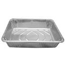 DISPOSABLE FOIL PANS & LIDS, FULL SIZE WIRE STAND - FOIL PAN, HALF SIZE, DEEP, 11 3/4