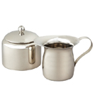 CREAMER AND SUGAR BOWL SET, STAINLESS STEEL