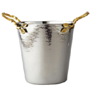 GOLDEN VINE HANDLE HAMMERED WINE BUCKET, 11.5