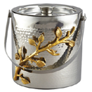 GOLDEN VINE HAMMERED ICE BUCKET, 6.25