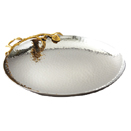 SERVING TRAY WITH GOLDEN VINE, STAINLESS STEEL