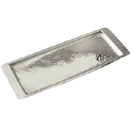 RECTANGULAR TRAYS, HAMMERED DESIGN, STAINLESS STEEL
