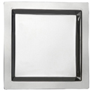 SQUARE TRAY, STAINLESS STEEL