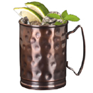 14 OZ MULE CUP, COPPER FINISH, HAMMERED, CASE OF 1 DOZ