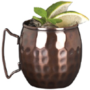 14 OZ MULE MUG, COPPER FINISH, HAMMERED, CASE OF 1 DOZ