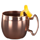 2 OZ MINI MULE MUG/SHOT, COPPER FINISH, CASE OF 2 DOZ