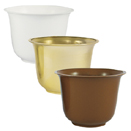 HEAVY DUTY PLASTIC SMALL SPUN PLANTER POT, 5.5