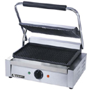 PANINI GRILL WITH GROOVED PLATES