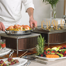 CONTOURED BUFFET STATIONS WITH GRIDDLES