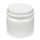 7 OZ PORCELAIN SUGAR POT WITH LID