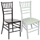CHIAVARI CHAIRS, STACKABLE, RESIN
