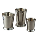 HAMERED MINT JULEP CUPS, STAINLESS STEEL