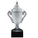 CRYSTAL CUP TROPHY WITH BASE