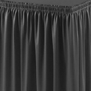 TABLE SKIRTING, SHIRRED PLEAT, 100% POLYESTER, VARIOUS COLORS