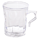 DINNERWARE, SCALLOPED EDGE, CLEAR, DISPOSABLE PLASTIC - 8 OZ COFFEE MUG, SCALLOPED EDGE, CLEAR, CASE OF 288