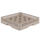 16 SQUARE COMPARTMENT RACK, BEIGE