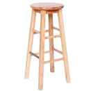 NATURAL WOOD BAR STOOL, 13